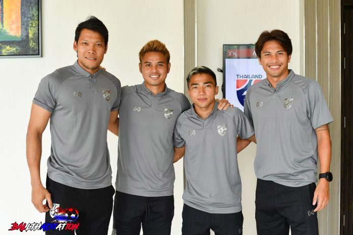 นักเตะทีมไทย!! กวินทร์-ธีราทร-ฐิติพันธ์-ชนาธิปมาแล้ว เข้าแคมป์ทีมชาติเตรียมลุยคัดบอลโลกครั้งนี้